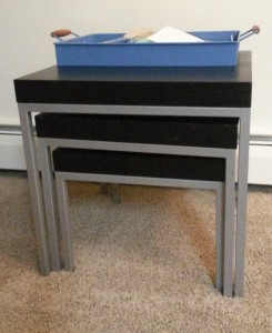 Nesting tables from Ikea.