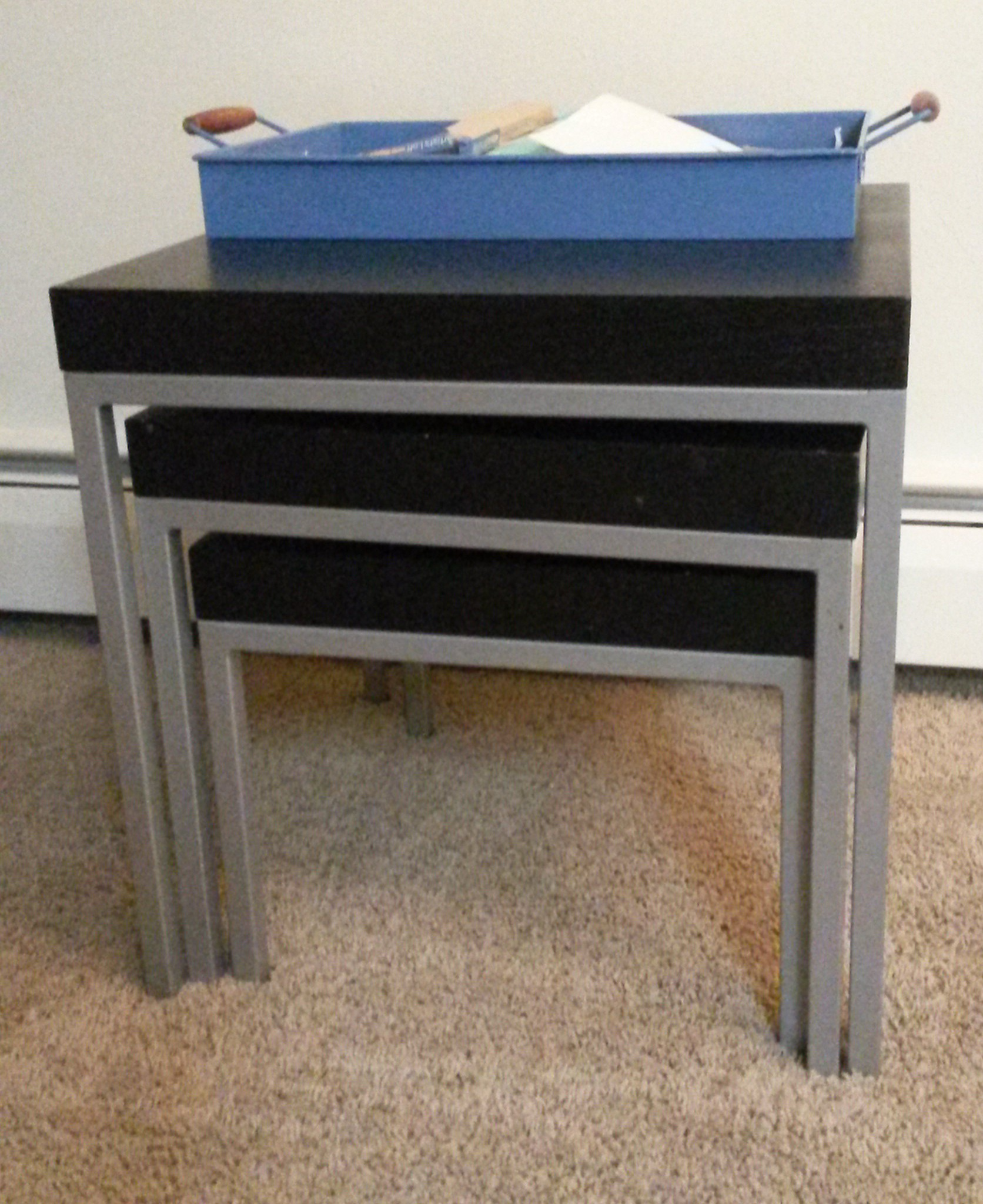 Wonderful image of Nesting tables from Ikea. with #415F8A color and 1672x2048 pixels
