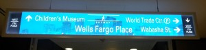 Saint Paul Skyway Sign