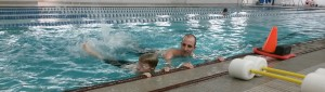 Swimming lessons at the downtown Saint Paul YMCA.