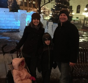 The Skyway Family at the St. Paul Winter Carnival.