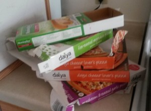 Garbage from pizza boxes