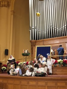 Christmas Pageant performance at Central Presbyterian.