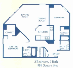 Floor plan of our condo.